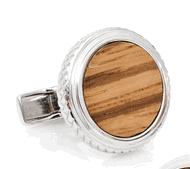 Sterling Opus Zebrawood Cufflinks