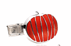 Sterling Pumpkin Cufflinks