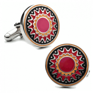 Pink Layered Flower Cufflinks