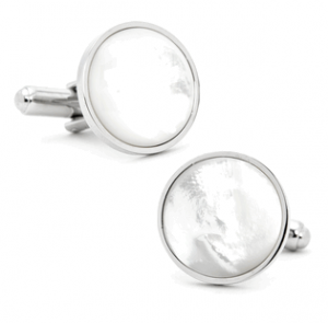Silver and Mother of Pearl Cufflinks