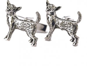 Sterling Chihuahua Cufflinks