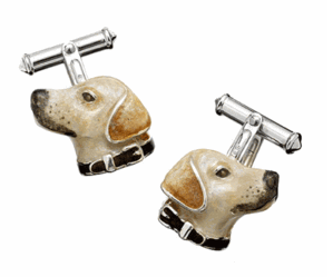 Hand Painted Labrador Dog Cufflinks