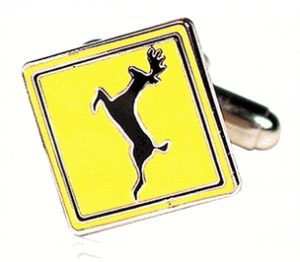 Deer Crossing Cufflinks
