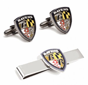 Baltimore Ravens Cufflinks and Tie Bar Gift Set