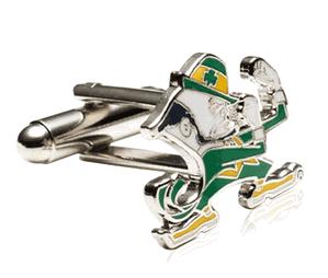 Notre Dame Fighting Leprechaun Cufflinks