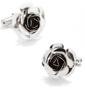 Silver Rose Cufflinks