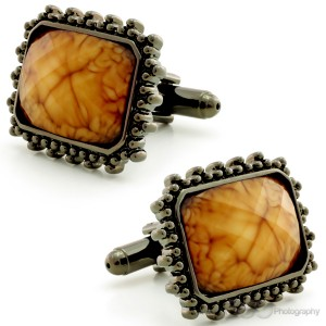 Amber in Aeons Cufflinks