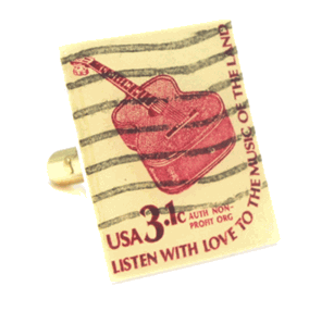 Guitar Stamp Cufflinks