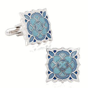 Deco Bloom Cufflinks, $65