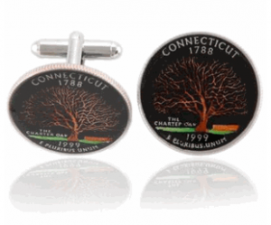 Connecticut Quarter Coin Cufflinks
