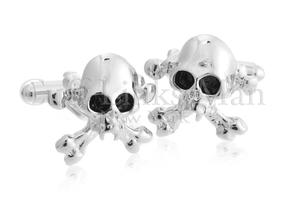 Vampire Skull and Crossbone Cufflinks