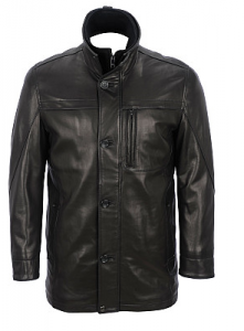Marc New York Liam - Smooth Lamb Car Coat from Wilson's Leather