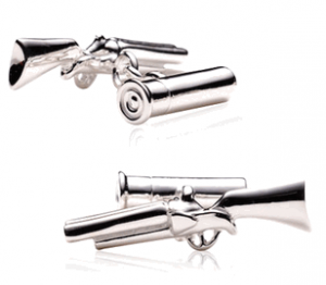 Shotgun and Shell Cufflinks