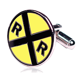Railroad Crossing Cufflinks