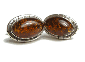Amber Eyes, Sterling Silver designer cufflinks