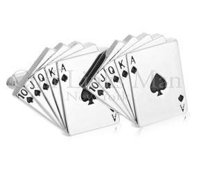 Royal Flush Poker Card Cufflinks