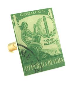 Vintage Cigar Stamp Cufflinks