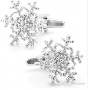 Snowflake Cufflink