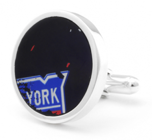 Authentic NHL New York Rangers Hockey Puck Cufflinks
