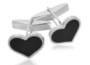 Sterling Heart Cufflinks