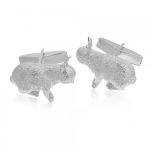 CUFFLINKS STERLING RABBIT