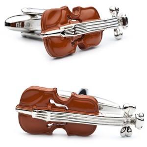 Enamel Violin Cufflinks