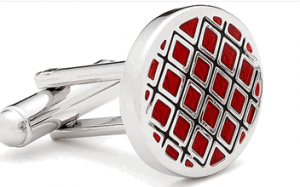 Red Quilted Cufflinks