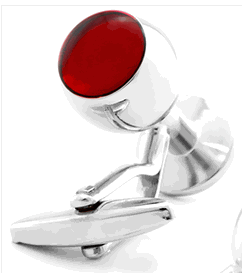 Merlot Glass Cufflinks