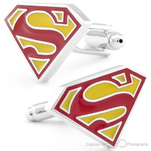 Superman Movie Logo Cufflinks