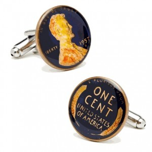 Hand Painted Penny Cufflinks