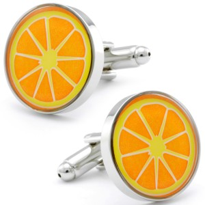 Orange Slice Cufflinks