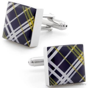 PLAID ONE CUFFLINKS