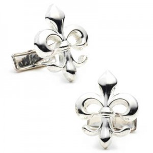 Sterling Silver 925 Fleur Di Lis Cufflinks