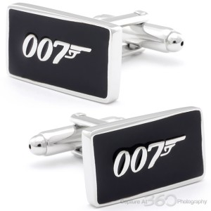 Black Bond 007 Sign Cufflinks