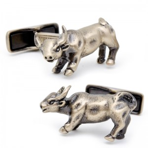 Antique Gold Bull Cufflinks