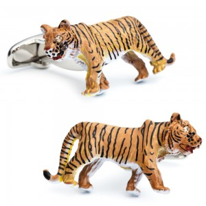 Enamel Tiger Cufflinks